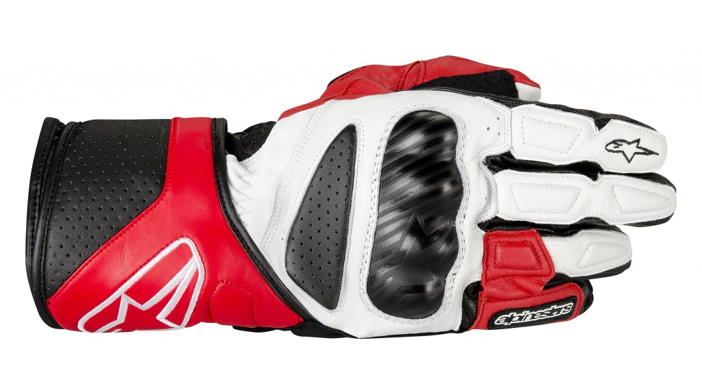 sp8 glove black white red