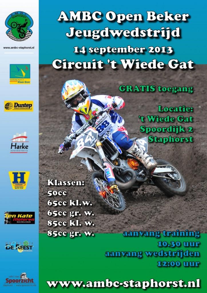 Poster Jeugdwedstrijd 14 september 2013
